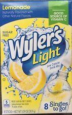 LEMONADE WYLER'S LIGHT SINGLES TO GO DRINK MIX 8 PACKS ON THE GO SUGARFREE