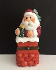 Eddie Walker Santa in Chimney Porcelain Hinged Box Midwest of Cannon Falls Nwt