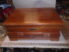 Vintage Silverware Flatware Cherry Wood Chest Case Cabinet