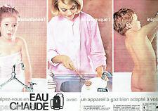 PUBLICITE ADVERTISING 026  1964  Eau Chaude au Gaz  (2p)