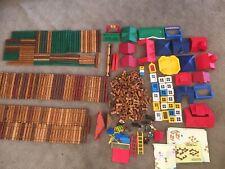 Lincoln Logs Huge Lot 100's Pieces Multiple Sets Vintage Instructions Toys