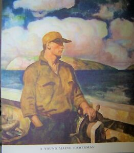14 Vintage N.C. Wyeth Prints Trending Into Maine Kenneth Roberts Lithograph Set