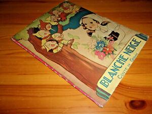 BLANCHE NEIGE Conte De Grimm - disegni di B. Mallet - BIANCANEVE - Francia 1938