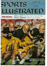 PETE DAWKINS HAND SIGNED 4X6 PHOTO - SPORTS ILLUSTRATED HEISMAN ARMY WEST POINT