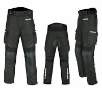 Waterproof Motorbike Motorcycle Trouser Pent CE Armoured Lined Gears Full Black
