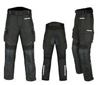Waterproof Motorbike Motorcycle Trouser Pent CE Armoured Lined Gears Full Black