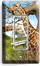 AFRICAN GIRAFFE LOVE ANIMALS 1 GFCI LIGHT SWITCH WALL PLATE COVER ROOM ART DECOR