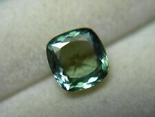 rare Fancy Green Tanzanite gem Natural Zoisite Tanzania Untreated square cushion
