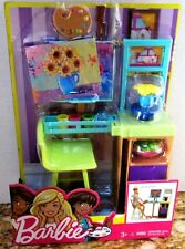 Barbie Art Studio Furniture & Accessory Set/New/NRFB