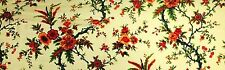 """100% SILK VELVET BURNOUT LIME FLOWERS FABRIC 45"""" WIDE BY THE YARD"""