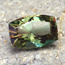 GREEN-ORANGE RED DICHROIC OREGON SUNSTONE 6.20Ct FLAWLESS, FOR HIGH-END JEWELRY