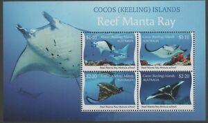 Cocos (Keeling) Islands 2021 Manta Ray Mini Sheet Mint Unhinged