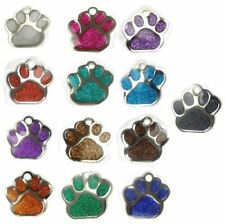 Placas de identificación de color principal verde para perros