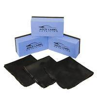 Ceramic Nano Coating Sponge Applicator Kit 3 Pack with Microfiber Cloths