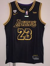 Maillot NBA LeBron James Los Angeles Lakers Finals 2020 Patch Mamba Edition T. M