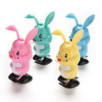 1 Pcs Wind up Rabbit Colorful Funny Somersault Walking Clockwork Toys IJ