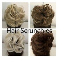 Curly Messy Bun Hair Piece Scrunchies Elastic, Synthetic Natural Updo Hair Cover