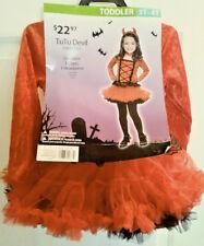 TUTU DEVIL HALLOWEEN COSTUME TODDLER 3T-4T 1 DRESS 1 HEADPIECE FREE SHIPPING NEW