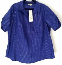 Women's Casual Striped Nylon Tops & Blouses