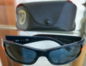 Ray Ban Junior Sonnenbrille für Kinder dunkel-blau mit Leder Case JR RJ9041S
