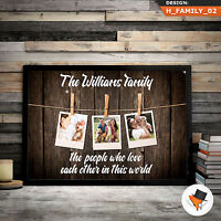 FAMILY PHOTO PERSONALISED PRINT UNIQUE & HIGH QUALITY FOR DAD MUM NAN AUNIE