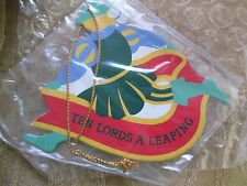"AVON *THE TWELVE DAYS OF CHRISTMAS ORNAMENTS TEN LORDS A LEAPING* ""NIB"" RARE"