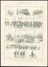 1888 - LONDON ISLINGTON AGRICULTURAL HALL MILITARY TOURNAMENT HORSES CYLES (197)