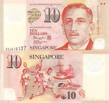 SINGAPORE 10 Dollars Banknote World Paper Money Currency BILL Pick p48l Sports