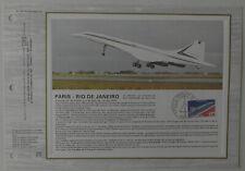 Feuillet CEF 1er jour n°336 1976 Concorde Vol commercial Paris Rio de Janeiro