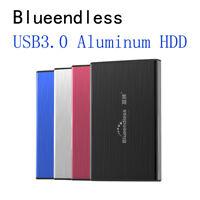 "250GB Portable External Hard Disk Drive 2.5"" USB 3.0 Aluminum Backup Slim HDD"