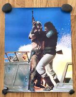 1983 STAR WARS LANDO CALRISSIAN vs VEDAIN POSTER JABBA'S SKIFF GUARD Return Jedi