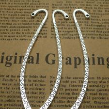 20pcs DIY Hook School Vintage Paper Clips Students Metal Tibetan Silver Bookmark