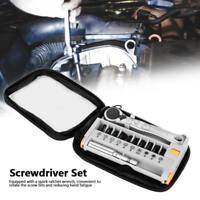 "12 in 1 Mini 1/4"" Rapid Ratchet Socket Wrench & Screwdriver Bit Set Repair Tools"