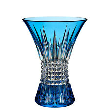 "Waterford Lismore Diamond Light Blue 8"" Vase"