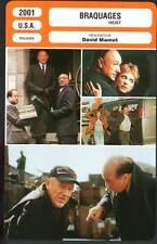 BRAQUAGES - Hackman,DeVito,Mamet (Fiche Cinéma) 2001 - Heist