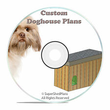 """Diy Insulated Dog House Plans, easy to build, Large Breed, 56"""" Wide, detailed Cd"""