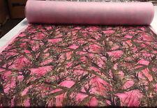 "Fleece MC2 Pink Sweatshirt Blanket Hunting Fabric True Timber 58""W Camouflage"