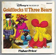Vintage 1982 Disney's The Story Of Goldilocks And The Three Bears Paperback Book