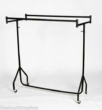 SUPER Heavy Duty 4ft Double Top Parallel Garment Hanging Rail Storage Rack NEW