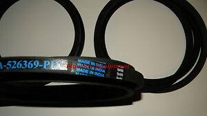 Disc Mower Belt Set 3 for Massey Ferguson 1306 1307 1327 Challenger HTD7 526369