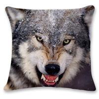 45*45cm 3D Owl Wolf Tiger Animal Print Sofa Throw Pillow Case Cushions Covers