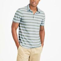 New J Crew Men's Striped Slub Cotton Short Sleeve Polo Shirt Size XXL