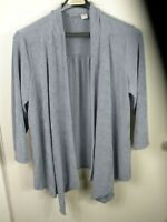 Chico's Women's Classic Travelers Gray Jacket Size 3 (16-18) NWT