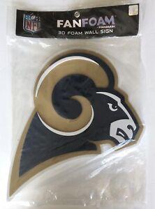 "Los Angeles Rams 3D Foam Wall Sign 18""x14""x1"" New"