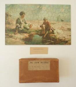 """AMATEUR CUT WOODEN JIGSAW PUZZLE - """"The Blue Pool"""" - 212 Push-Fit Pieces"""