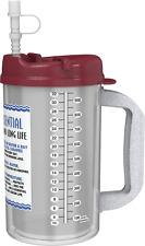 (3) 32 oz Insulated Mugs with Straws | BPA FREE | Electron Burgundy Lids | W.E.