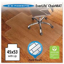 Es Robbins 45x53 Lip Chair Mat Economy Series for Hard Floors 131823