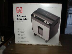 TRU RED 8 Sheet Shredder Light Use NIB