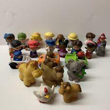 (22) Little People Wheelies Animals Figures Lot Fisher Price Farm Zoo