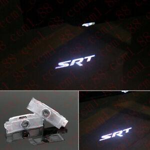 2x LED Car Door SRT LOGO PROJECTOR Puddle Light For Dodge Challenger 2008-2019